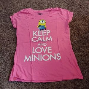 Universal despicable me pink Minions t-shirt